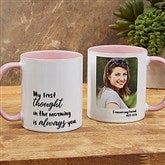 Loving Memory Memorial Personalized Photo Coffee Mug 11 oz.- Pink - 18545-P