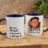 Loving Memory Memorial Personalized Photo Coffee Mug 11 oz.- Blue - 18545-BL