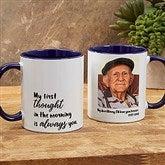 Loving Memory Memorial Personalized Photo Coffee Mug 11 oz.- Blue - 18545-BL