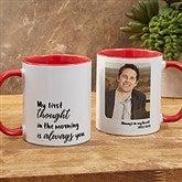 Loving Memory Memorial Personalized Photo Coffee Mug 11 oz.- Red - 18545-R