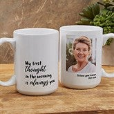 Loving Memory Memorial Personalized Photo Coffee Mug 15 oz.- White - 18545-L