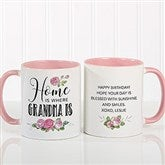 Home Is Where Mom Is Personalized Coffee Mug 11 oz.- Pink - 18548-P