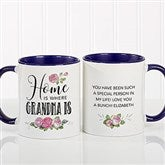 Home Is Where Mom Is Personalized Coffee Mug 11 oz.- Blue - 18548-BL