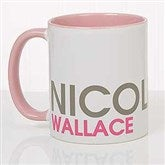 Bold Name Personalized Coffee Mug 11 oz.- Pink - 18549-P