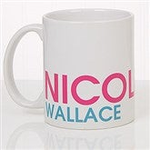 Bold Name Personalized Coffee Mug 11 oz.- White - 18549-W