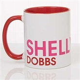 Bold Name Personalized Coffee Mug 11 oz.- Red - 18549-R