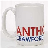 Bold Name Personalized Coffee Mug 15 oz.- White - 18549-L