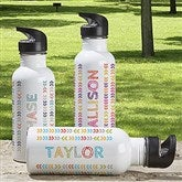 Stencil Name Personalized Water Bottle - 18553