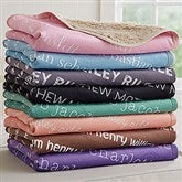 Playful Name Personalized Sherpa Baby Blanket - 18558