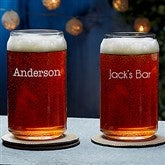 Classic Celebrations Engraved Beer Can Glass- Name - 18562-N