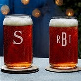 Classic Celebrations Engraved Beer Can Glass- Monogram - 18562-M