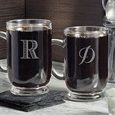 Classic Celebrations Personalized Glass Coffee Mug- Monogram - 18563-M