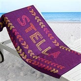 Stencil Name Personalized Beach Towel - 18572
