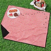 Ants Go Marching Plaid Personalized Picnic Blanket - 18575