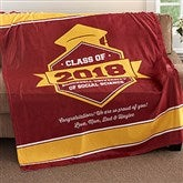 Class Of Personalized Graduation 60x80 Fleece Blanket - 18577-L
