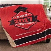 Class Of Personalized Premium 50x60 Sherpa Blanket - 18578