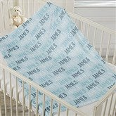 Modern Boy Name Personalized Fleece Baby Blanket - 18581