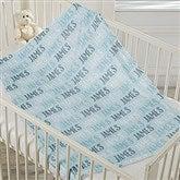 Modern Boy Name Personalized Fleece Baby Blanket - 18581