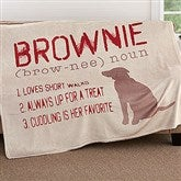 Definition Of My Dog Personalized 50x60 Fleece Blanket - 18587