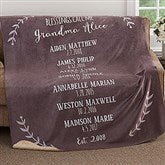 Our Grandchildren Personalized Premium 60x80 Sherpa Blanket - 18590-L