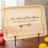 Key To Our Home Personalized Maple Cutting Board- 12x17 - 18596