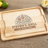 The Grill Personalized Maple Cutting Board- 12x17 - 18597