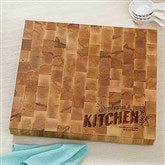 Her Kitchen Personalized Butcher Block Cutting Board - 18601