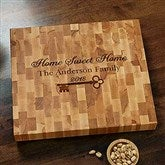 Key to Our Home Butcher Block Cutting Board - 18603