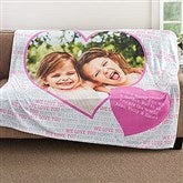 Love You This Much Personalized 60x80 Fleece Blanket - 18607-L