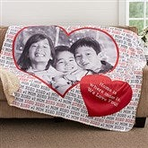 Love You This Much Personalized Premium 60x80 Sherpa Blanket - 18608-L