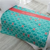 Geometric Personalized Premium 60x80 Sherpa Blanket - 18614-L