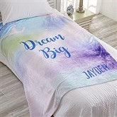 Watercolor Personalized 60x80 Fleece Blanket - 18615-L