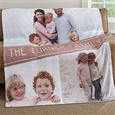 Family Photo Collage Personalized 60x80 Fleece Blanket - 18619-L