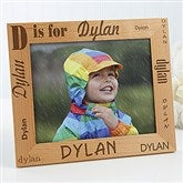 Alphabet Name Personalized Frame- 8 x 10 - 1862-L