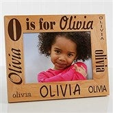 Alphabet Name Personalized Frame- 5 x 7 - 1862-M