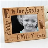 Alphabet Name Personalized Frame- 4 x 6 - 1862-S