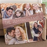 Family Photo Collage Personalized Premium 50x60 Sherpa Blanket - 18620