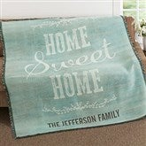 Home Sweet Home Personalized Woven Throw - 18623