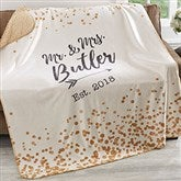 Sparkling Love Personalized Premium 50x60 Sherpa Blanket - 18626