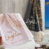 Sparkling Love Personalized Beach Towel - 18627