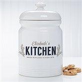 Her Kitchen Personalized Cookie Jar - 18639