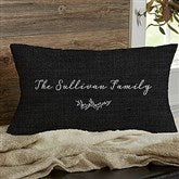 Farmhouse Floral Personalized Lumbar Throw Pillow - 18642-LB