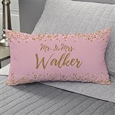 Sparkling Love Personalized Lumbar Throw Pillow - 18649-LB