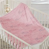 Modern Girl Name Personalized Fleece Baby Blanket - 18669