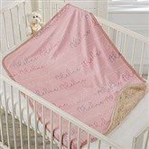 Modern Girl Name Personalized Sherpa Baby Blanket - 18670