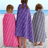 Playful Name Personalized Beach Towel - 18671