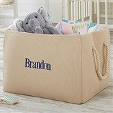 Personalized Embroidered Storage Tote-Name - 18682-N