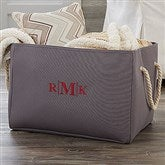 Personalized Embroidered Storage Tote-Monogram - 18682-M