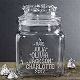 Christmas Family Tree Personalized Candy Jar - 18686
