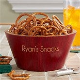 Classic Celebrations Personalized Red Bamboo Bowl- Small Name - 18689-SN